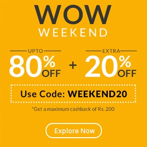 Use promo code 'WEEKEND20'